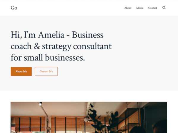 GoDaddy's 'Go' WordPress Theme Offers a Page-Building Experience via the Block Editor