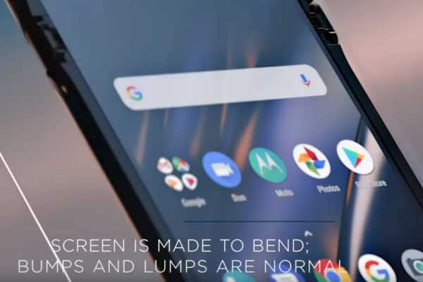 Motorola on the Razr's folding screen: 'bumps and lumps are normal'