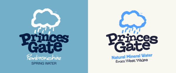 Spotted: New Logo and Identity for Princes Gate Water by John & Jane