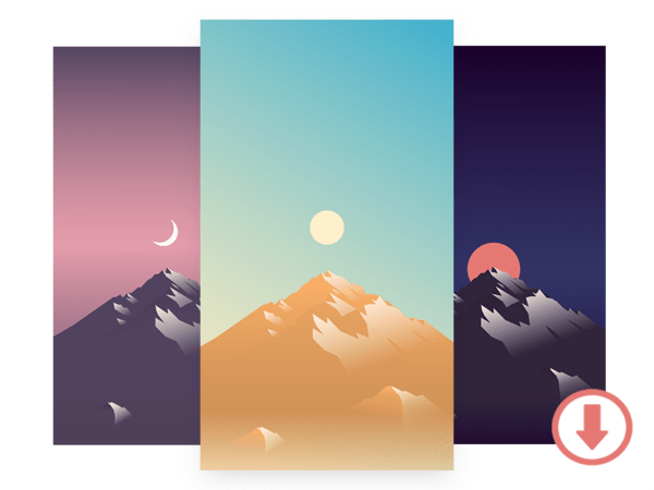 Get 12 free beautiful iPhone wallpapers designed by Dribbblers
